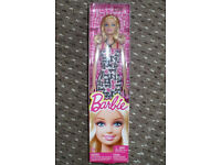 Barbie fashion doll, new in box. Approx. 29cm tall, curly hair. Christmas..