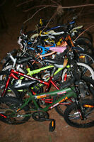 15 kids bikes, good for fixups. Easy to repair.
