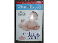 What To Expect The 1st Year by Heidi Murkoff, Sharon Mazel (book about baby). 2nd edition.Good cond.