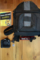 Canon 60D battery grip and lowepro 300 bag