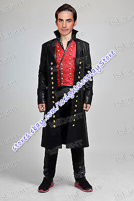 Once Upon A Time Hook Halloween Costumes (Once Upon A Time Captain Hook Killian Jones Cosplay Costume Halloween Outfit)