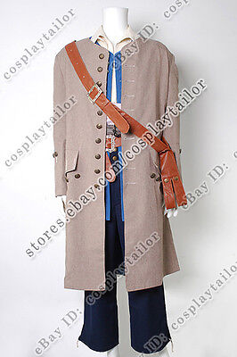 Pirates Of The Caribbean Cosplay Jack Sparrow Costume Coat Comfortable To Wear - Pirate Costume Easy