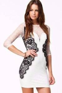 White Vintage Lace Bodycon Party Dress Size 10 Ascot Brisbane North East Preview