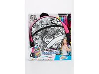 Kids Colour Your Own Backpack Set