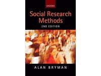Alan Bryman Research Methods 2nd Edition £7 ONO