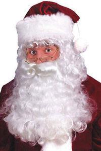 Hochwertiges Weihnachtsmannbart Set Bart Perücke Nikolaus Santa Weihnachtsmann