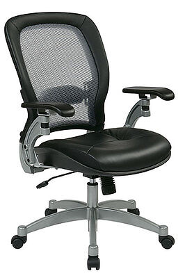 Light Air Grid Seat (Space Seating Professional Light Air Grid® Back Chair with Leather Seat)