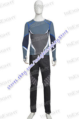 Avengers Quicksilver Costume (Avengers: Age of Ultron Quicksilver Pietro Maximoff Cosplay Costume Halloween)