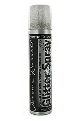 Jerome Russell Glitter Spray For Hair & Body Silver Color 2.2 oz