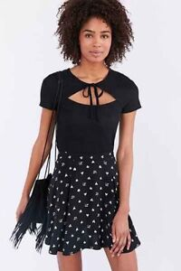 Urban Outfitters Project Social T Bianca Tie Front Tee S Retro