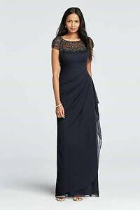 Navy Mother of the Bride Gown