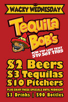Tequila Bob is looking for a beer bin girl!!