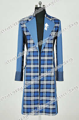 Who Buy Doctor Cosplay The 6th Sixth Dr Costume Blue Trench Coat Outwear Great  - Buy Costumes