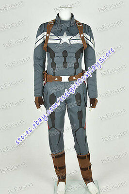 Captain America II 2: The Winter Soldier Cosplay Costume Movie Uniform Halloween](Captain America The Winter Soldier Halloween Costumes)