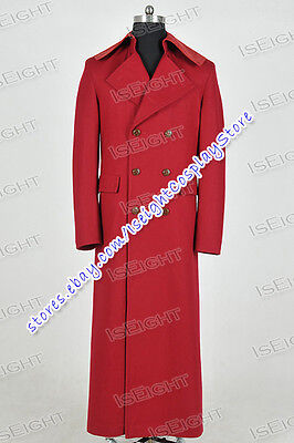 We Make Doctor Costume For Who Cosplay Dr Dark Red Long Trench Coat Halloween