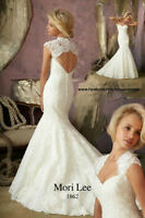 Mermaid / fit and flare Mori Lee 1862 wedding dress size 4