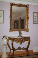 Mirror with a wall table