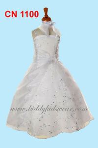 White communion dresses and flower girl dresses