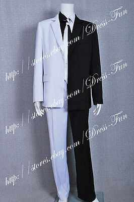 Batman Cosplay Two Face Man Cosplay Costume White And Black Suit Halloween Party