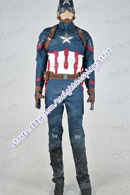 Captain America: Civil War Steve Rogers Cosplay Costume Uniform Super Hero Cool - Cool Hero Costumes