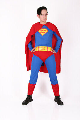 Super Male Superman Kostüm Karneval Junggesellenabschied  - Superman Neue Kostüm Blau