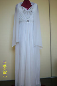 GREAT OPPORTUNITY! Wedding chiffon dress -size L West Island Greater Montréal image 1