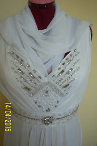 GREAT OPPORTUNITY! Wedding chiffon dress -size L West Island Greater Montréal image 2