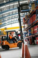 You can earn $13-$18+/hr as a certified forklift operator