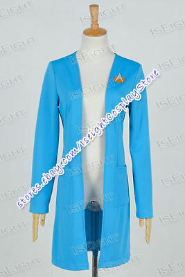 Star Trek Next Generation Halloween Costume (Star Trek:The Next Generation TNG Cosplay Beverly Crusher Costume Coat)