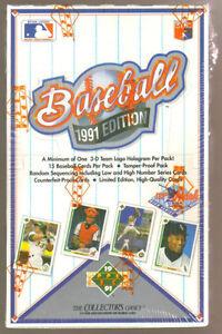 1991 UPPER DECK .... BASEBALL .... HIGH # BOX .... 36 packs