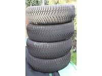 Set of 4 Good Year Winter Tyres 205/60R15