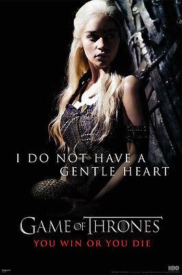 Game Of Thrones Gentle Heart Poster  Daenerys Emilia Clarke Fantasy Drama New