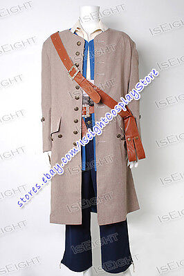 Male Pirate Halloween Costumes (Pirates Of The Caribbean Cosplay Jack Sparrow Costume Male Halloween)