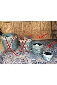 2 Heavy duty ceramic pots - NEVER used - Med and Small