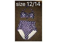 Size 12/14 high waisted bikini