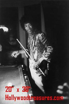 "JImi Hendrix~Billiards~Shooting Pool~Playing Pool~Photo~Poster 20""x 30"""