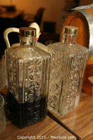 2 Vintage Decanters to add to your bar