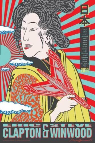 ERIC CLAPTON / STEVE WINWOOD 2011 JAPAN TOUR POSTER Printer
