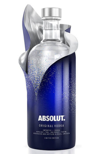 Absolut Vodka Blue Uncover Sleeve Limited Edition Empty Bottle - NO ALCHOLO -