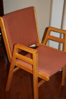 Four [4] durable, stackable, kitchen / waiting room chair