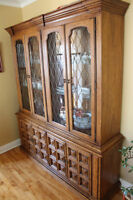 Vintage Dining Cabinet/hutch with interior lighting