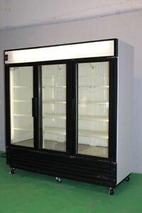 3 GLASS DOOR FREEZERS AND COOLERS TRUE GDM72F & TRUE GDM 72