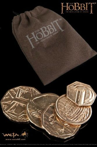 Weta Collectibles The Hobbit The Desolation of Smaug 5 Coin Treasure with Pouch