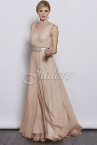 J'adore - J3040 Evening Dress in Blush - Size 12 (No alterations
