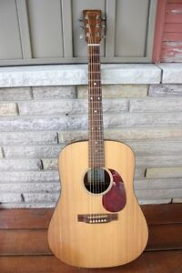 MARTIN D M ACOUSTIC GUITAR with hard case