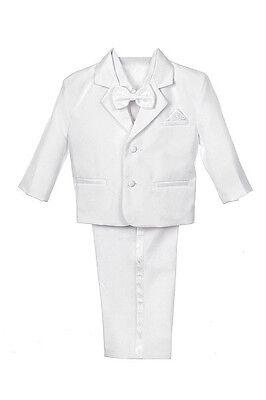New Baby BOY Children 1st Communion Baptism Formal WHITE Tuxedo (New born - 20) (1st Communion Suits)
