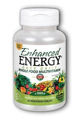 Enhanced Energy Once Daily Iron Free Kal 60 Tabs Enhancer 60 Tabs