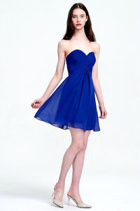 Royal Blue Short Strapless Prom Bridesmaid Cocktail Dress 14