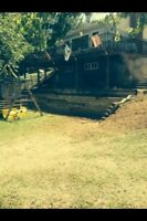 Landscaping services, cement work, mowing & more
