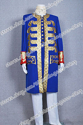 Pirates of the Caribbean Cosplay Blue Costume Captain The Full Set Comfortable  - Pirate Costume Easy